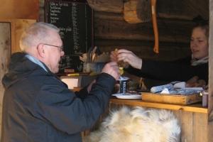 Lindalens Fäbod, längsspår, Kalven runt, fika, kaffe & våffla