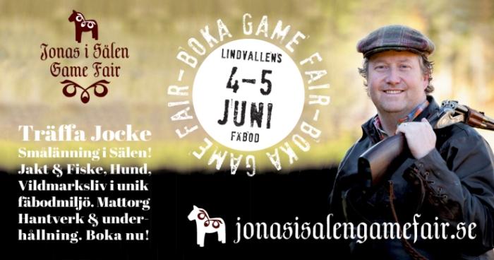 Jonas i Sälen Game Fair, Jonas i Sälen, Jocke Smålänning, Lindvallens Fäbod, gamefair 2016