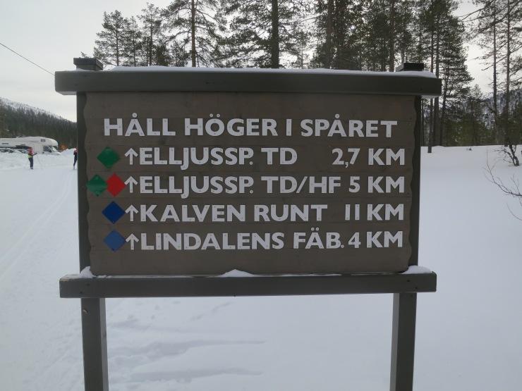 Tandådalen, Kalven runt, Lindalens Fäbod, Lindalen, längdspår, skidspår, längdåkning, cross country