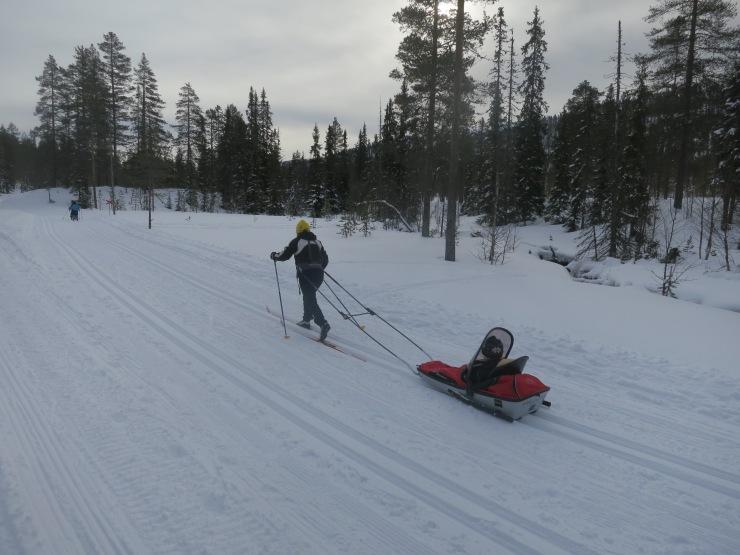Kalven runt, Lindalens Fäbod, Lindalen, Tandådalen, längdåkning, skidspår