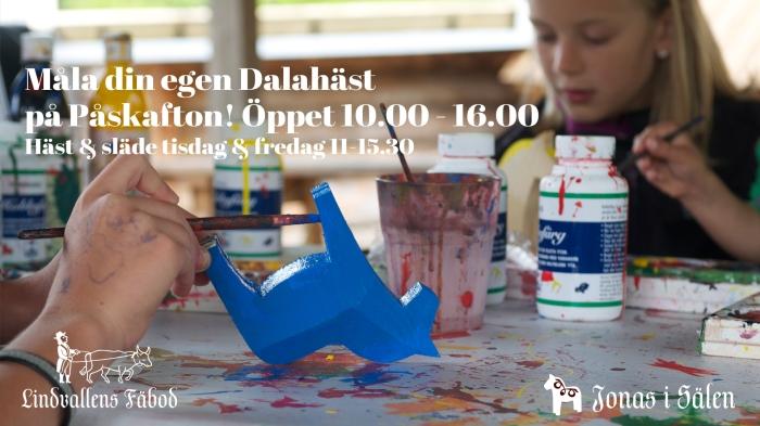 Dalahäst, dala häst, Dalarna, Lindvallens Fäbod, barnaktiviteter, Jonas i Sälen, Lindvallen, påsk