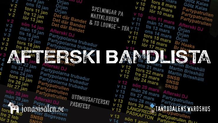 après ski, afterski, live music, aprés ski sälen, Tandådalen, Tandådalens Wärdshus, Jonas i Sälen, restaurant, bar, nightlife sälen
